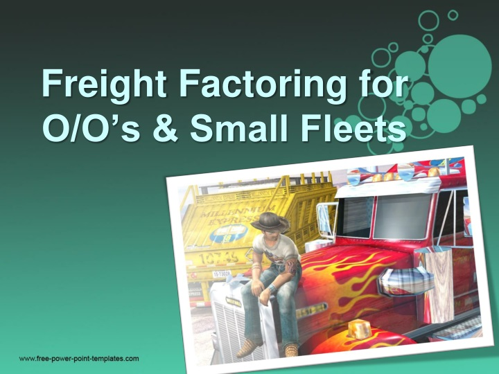 freight factoring for o o s small fleets n.