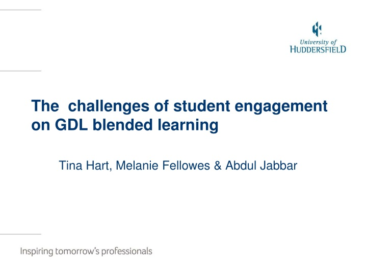 the challenges of student engagement on gdl blended learning n.