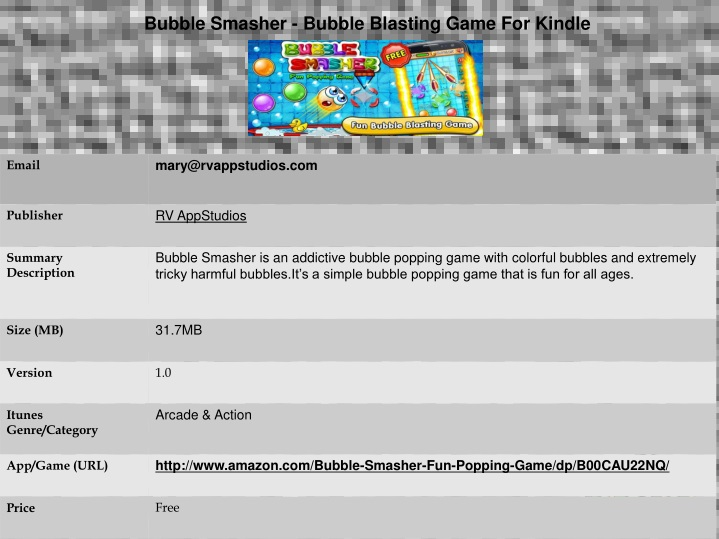 bubble smasher bubble blasting game for kindle n.