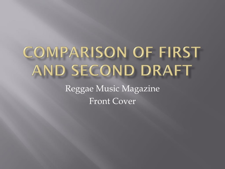 comparison of first and second draft n.