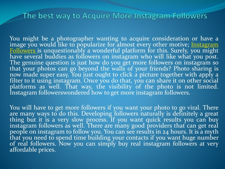 the best way to acquire more instagram followers n.