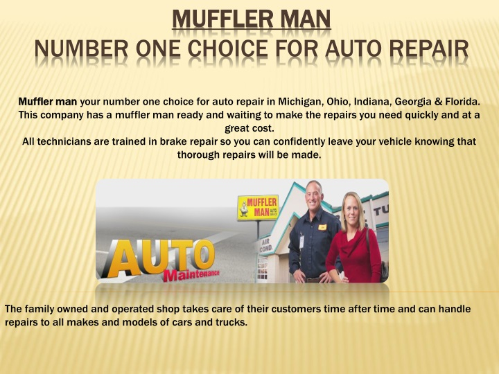 muffler man number one choice for auto repair n.