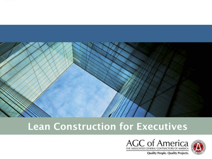 lean construction for executives n.
