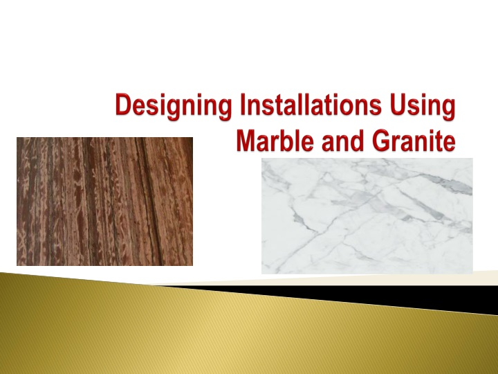 designing installations using marble and granite n.