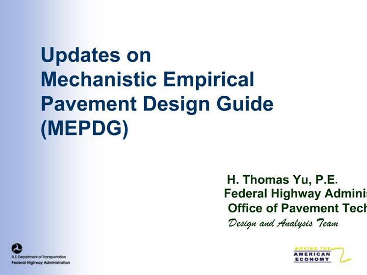 Ppt Updates On Mechanistic Empirical Pavement Design Guide Mepdg Powerpoint Presentation Id 1229001