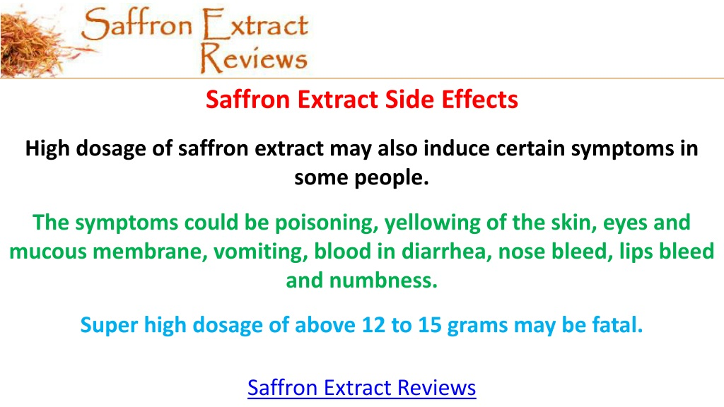 Ppt Saffron Extract Reviews Saffron Extract Powerpoint