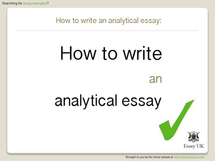 searching for essay examples n.