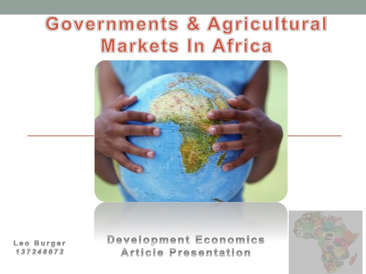 governments agricultural markets in africa n.