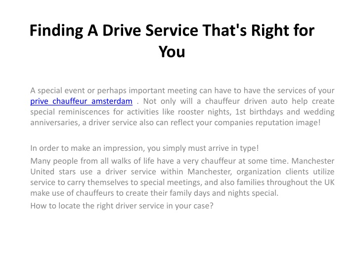 finding a drive service that s right for you n.