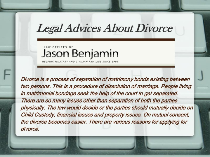 legal advices about divorce n.