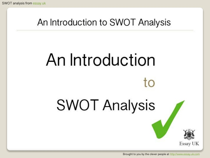 swot analysis from essay uk n.