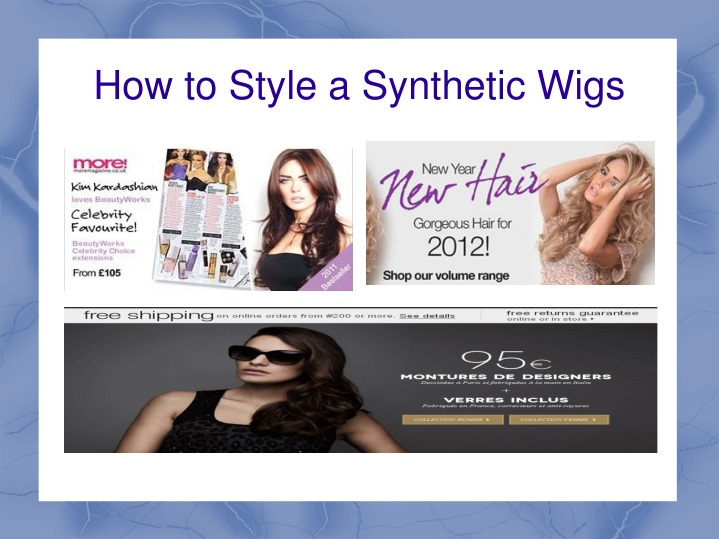 how to style a synthetic wigs n.