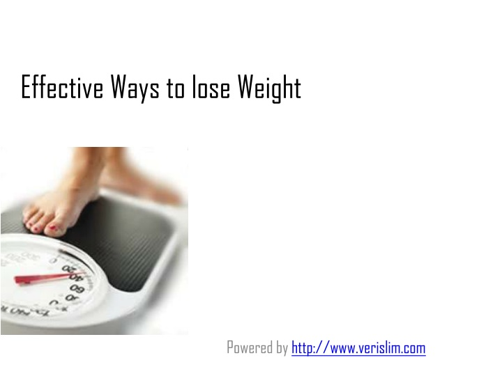 effective ways to lose weight n.