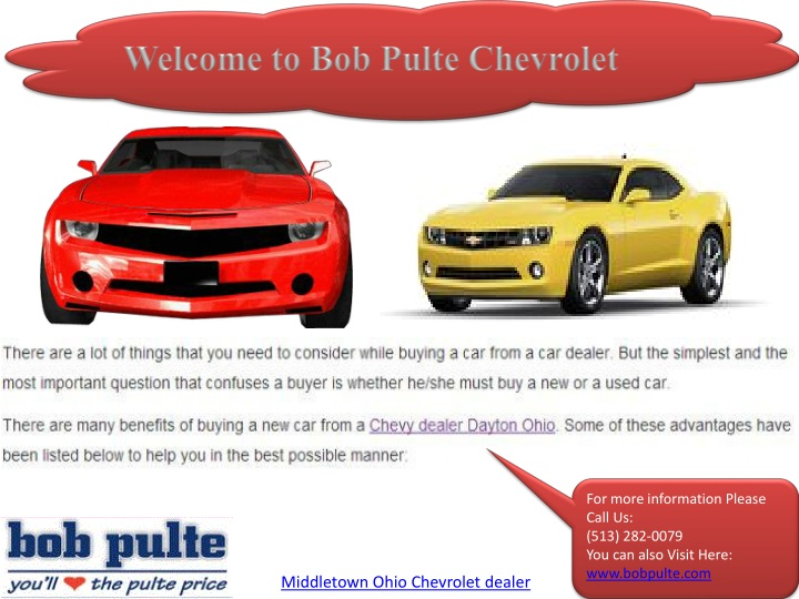 welcome to bob pulte chevrolet n.