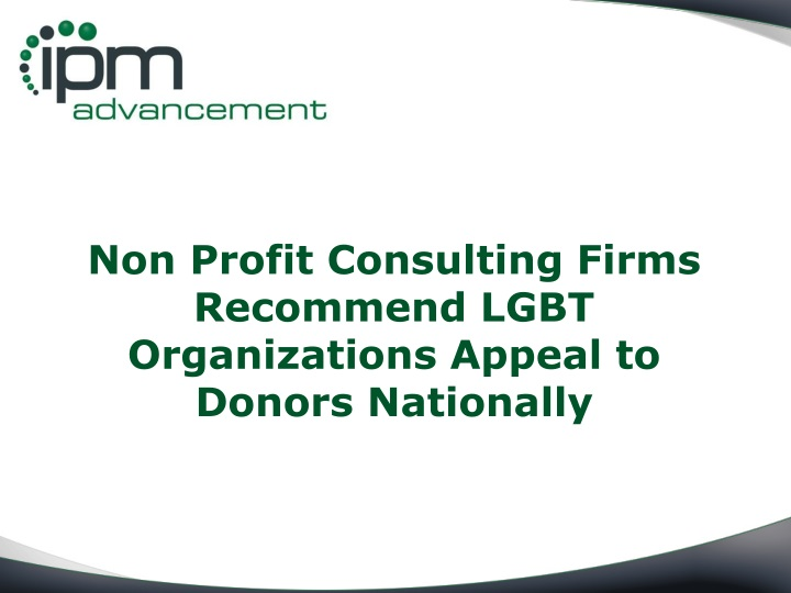 non profit consulting firms recommend lgbt n.