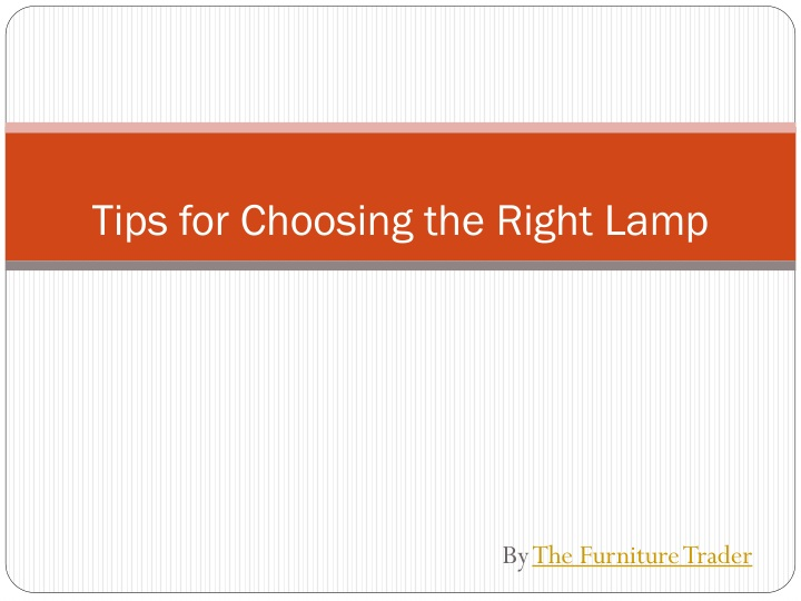 tips for choosing the right lamp n.