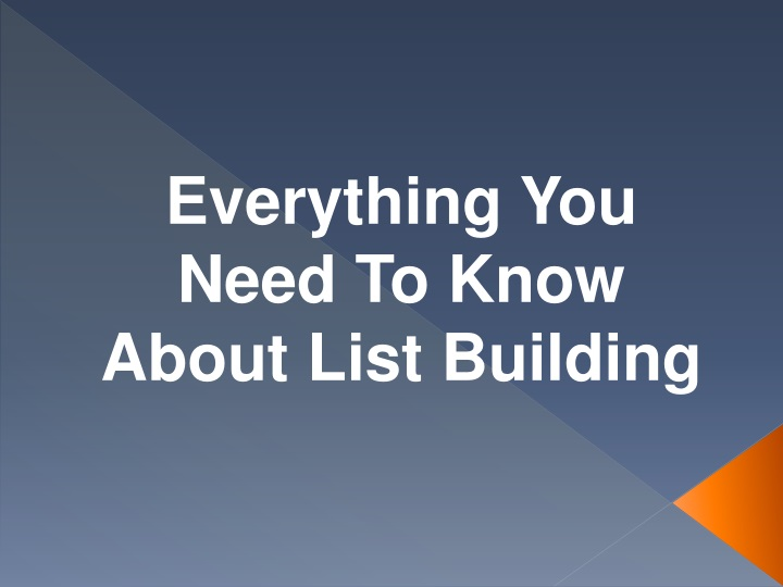 everything you need to know about list building n.