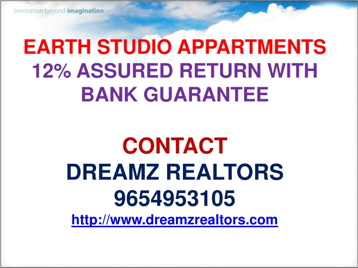 earth studio appartments 12 assured return with n.