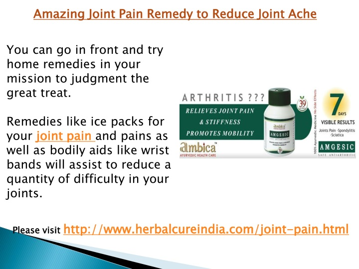 amazing joint pain remedy to reduce joint ache n.