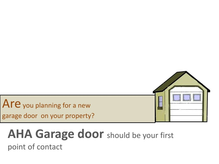 are you planning for a new garage door on your n.
