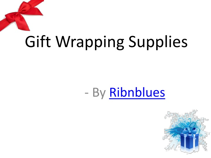 gift wrapping supplies n.