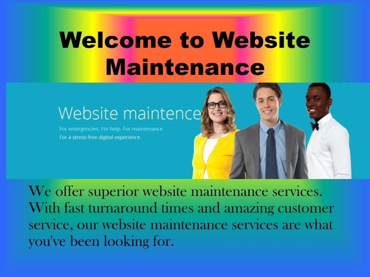 welcome to website maintenance n.
