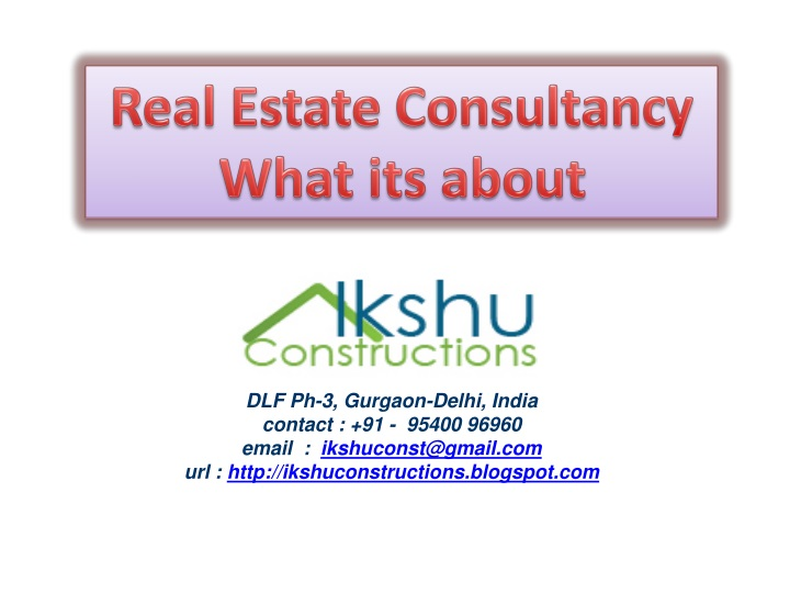 real estate consultancy what its about n.