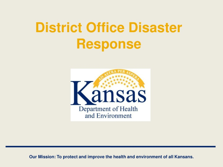 district office disaster response n.