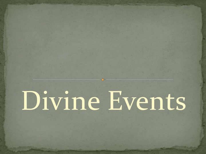 divine events n.