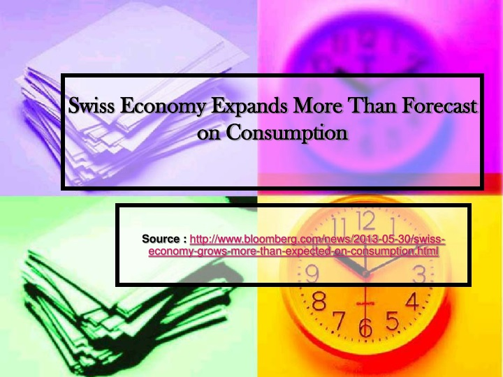 swiss economy expands more than forecast on consumption n.