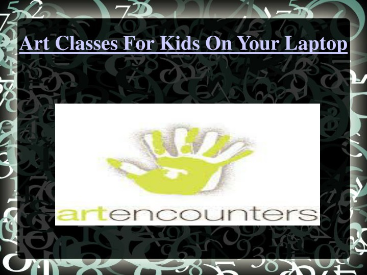 art classes for kids on your laptop n.