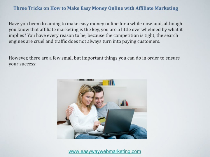 three tricks on how to make easy money online n.
