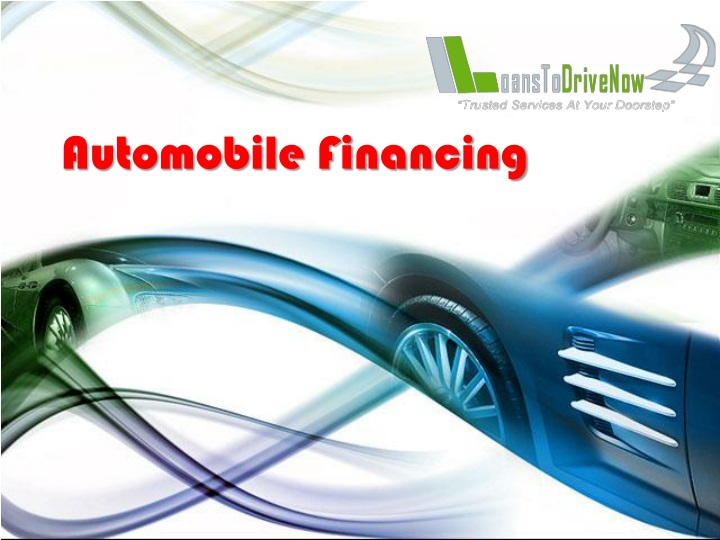 automobile financing n.
