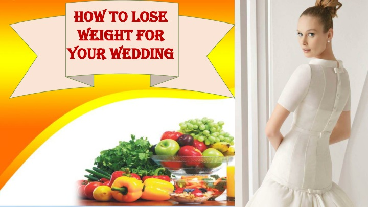 how to lose weight for your wedding n.
