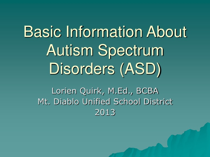 basic information about autism spectrum disorders asd n.
