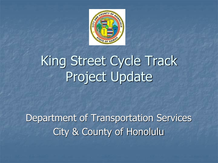 king street cycle track project update n.