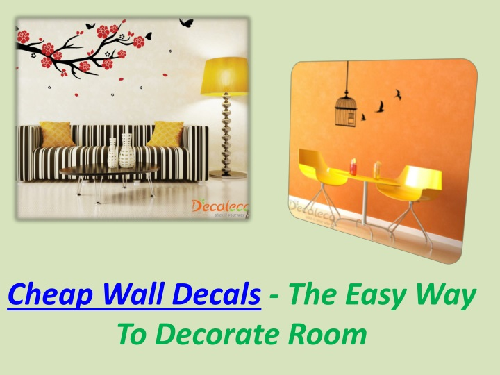 cheap wall decals the easy way to decorate room n.