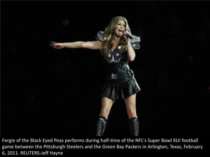fergie of the black eyed peas performs during n.
