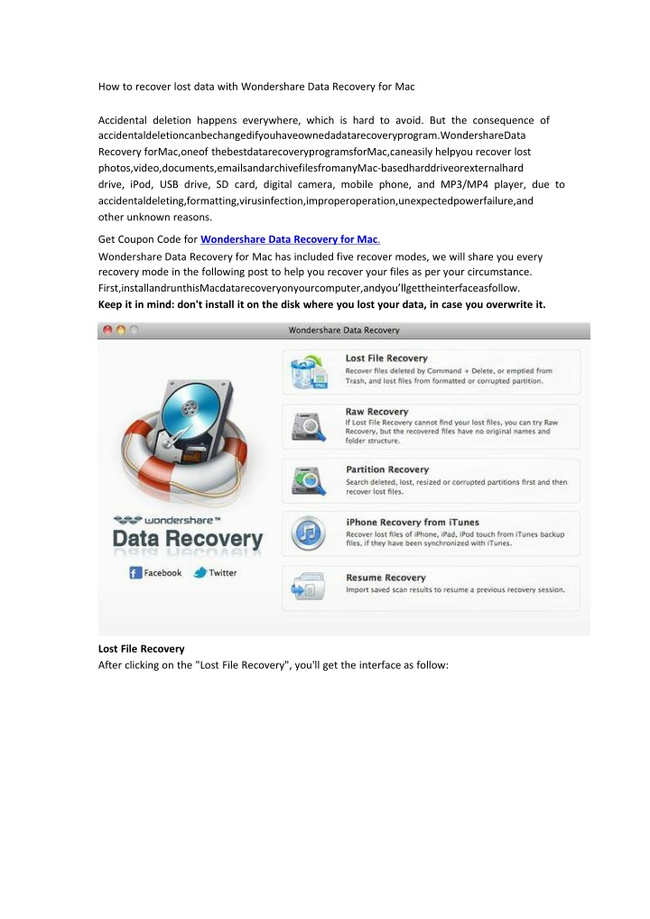 how to recover lost data with wondershare data n.