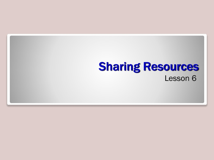 sharing resources n.