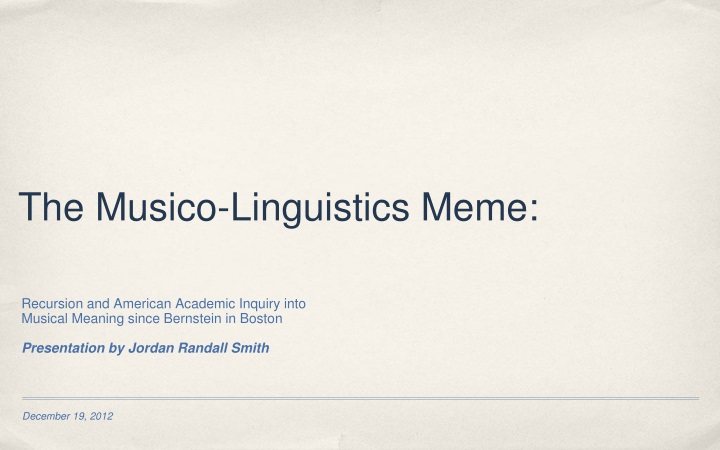 the musico linguistics meme n.