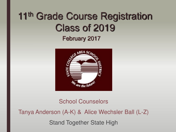 11 th grade course registration class of 2019 n.