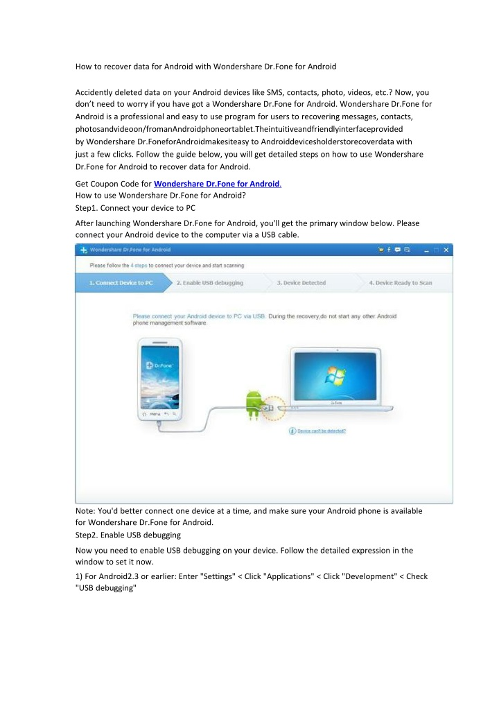 how to recover data for android with wondershare n.