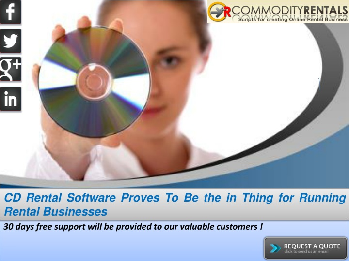 cd rental software proves to be the in thing n.