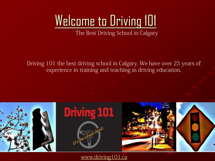 welcome to driving 101 n.