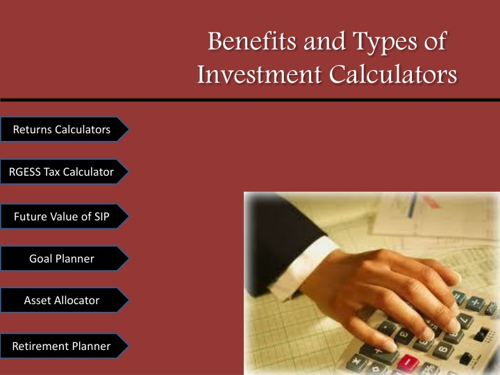 benefits and types of investment calculators n.