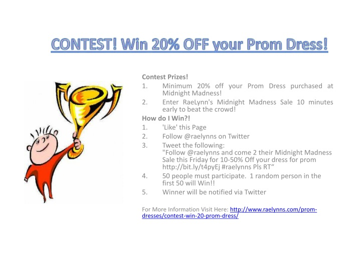 contest win 20 off your prom dress n.