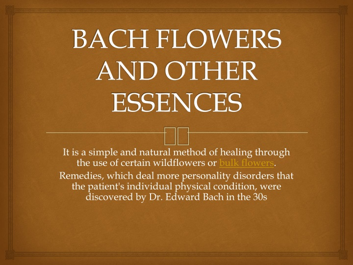 bach flowers and other essences n.