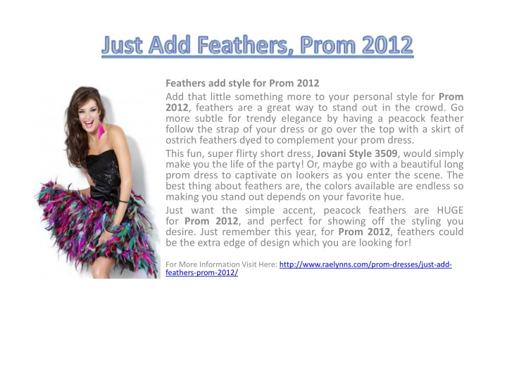 just add feathers prom 2012 n.