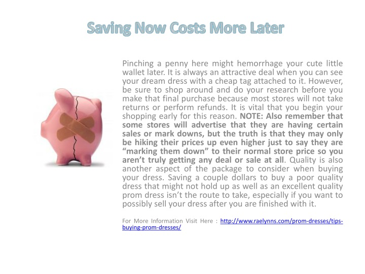 saving now costs more later n.